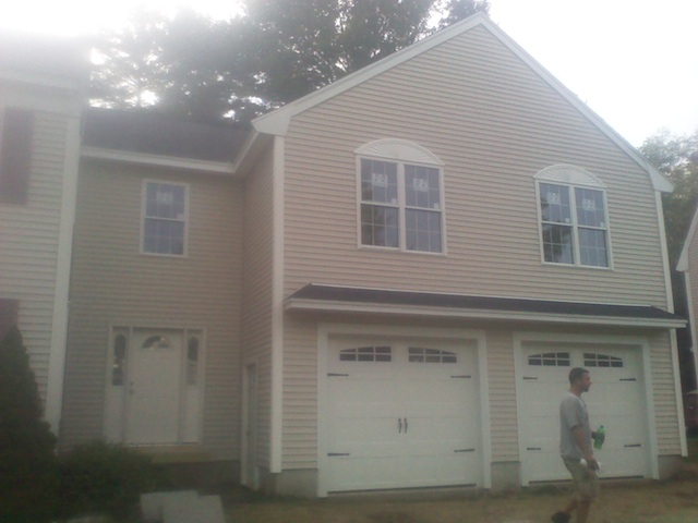 Here is a garage and breeze way completed in seabrook, nh